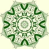 Elemento geometrico verde dell'ornamento Immagine Stock