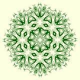 Elemento geometrico verde dell'ornamento Fotografia Stock Libera da Diritti