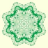 Elemento geometrico verde dell'ornamento Immagini Stock Libere da Diritti