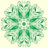 Elemento geometrico verde dell'ornamento Fotografie Stock