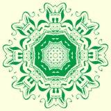 Elemento geometrico verde dell'ornamento Fotografia Stock