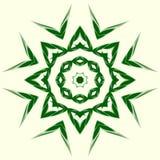 Elemento geometrico verde dell'ornamento Immagine Stock Libera da Diritti