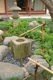 Elemento giapponese dell'acqua del giardino Fotografia Stock Libera da Diritti