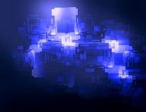 Elemento gráfico circular del fondo abstracto en colores azules Foto de archivo