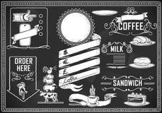 Elemento gráfico de la vendimia para el menú de la barra stock de ilustración