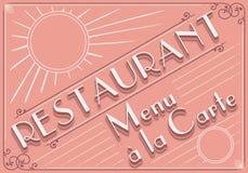 Elemento gráfico do vintage para o menu do restaurante ilustração stock