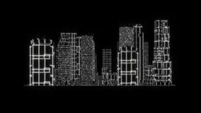 elemento gráfico Tron del holograma de 3D de la ciudad del movimiento blanco de Loopable libre illustration