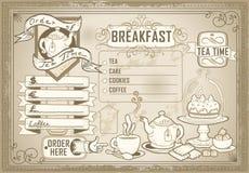 Elemento grafico d'annata per il menu della barra Fotografia Stock