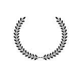 Elemento heráldico floral de Laurel Wreath Brasão heráldica dezembro ilustração royalty free