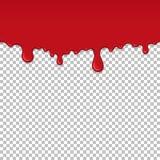 Elemento inconsútil de goteo rojo del limo libre illustration