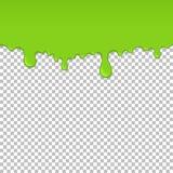 Elemento inconsútil de goteo verde claro del limo libre illustration