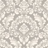 Elemento inconsútil del modelo del damasco del vector Ornamento pasado de moda de lujo clásico del damasco, textura inconsútil de libre illustration