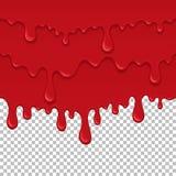 Elemento inconsútil líquido pegajoso rojo ilustración del vector