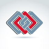 Elemento incorporado geométrico complexo Colorido abstrato do vetor mim Imagem de Stock Royalty Free