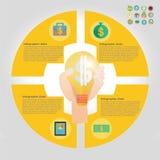Elemento infographic da finança Fotografia de Stock Royalty Free