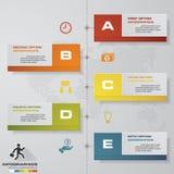 elemento infographic de la cronología de 5 pasos 5 pasos infographic, bandera del vector se pueden utilizar para la disposición d Imagenes de archivo