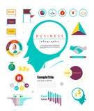 Elemento infographic de mercado cérebro principal gráfico e carta para Imagens de Stock Royalty Free