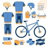 Elemento infographic del corredo del mountain bike Fotografia Stock Libera da Diritti