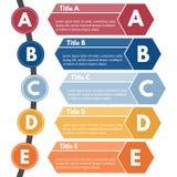 Elemento infographic del diseño de cinco pasos Foto de archivo