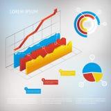 Elemento infographic del grafico di vettore Fotografie Stock Libere da Diritti