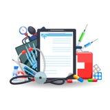 Elemento infographic di prescrizione medica Fotografie Stock