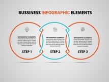 Elemento infographic do negócio Molde do projeto do espaço temporal do infographics do vetor moderno Vetor fotos de stock