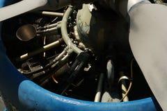 Elemento mechnic del ferro di moto dentro il motore degli aerei Fotografia Stock Libera da Diritti