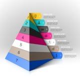 Elemento mergulhado do projeto das etapas da pirâmide Fotos de Stock Royalty Free