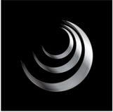 Elemento metálico do logotipo Fotografia de Stock