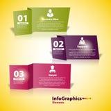 Elemento moderno di infographics del taglio delle carte d'ufficio Immagine Stock