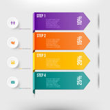 Elemento moderno do infographics Foto de Stock Royalty Free