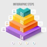 Elemento moderno do infographics Foto de Stock