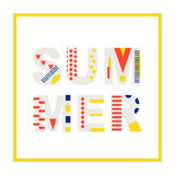 Elemento moderno do projeto da bandeira do verão Fotografia de Stock Royalty Free