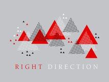Elemento moderno do projeto da geometria do estilo da seta vermelha Imagens de Stock