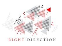 Elemento moderno do projeto da geometria do estilo da seta vermelha Imagem de Stock