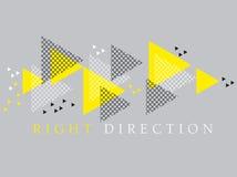 Elemento moderno do projeto da geometria do estilo do conceito Fotografia de Stock