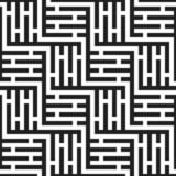 Elemento monocromatico senza cuciture di struttura del modello del labirinto illustrazione vettoriale