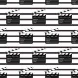 Elemento negro abierto del objeto de la palmada negra para la película que hace el ejemplo del vector plano Icono del símbolo del stock de ilustración