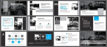 Elemento negro y azul para la diapositiva infographic en fondo ilustración del vector