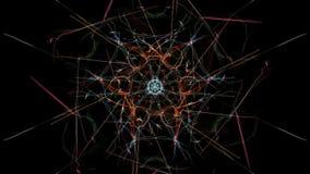 Elemento ondulato astratto di progettazione su fondo nero illustrazione di stock