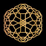 Elemento orientale dorato per la decorazione Illustrazione di vettore illustrazione vettoriale