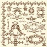 Elemento ornamentale di progettazione di Leopoli storico Fotografie Stock Libere da Diritti