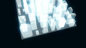 Elemento ou construções abstratas da cidade no wireframe ou ilustração do vetor