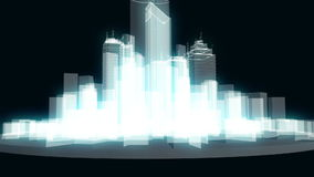 Elemento ou construções abstratas da cidade no wireframe ou ilustração stock