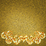 Elemento oxidado del ornamento del metal Imágenes de archivo libres de regalías