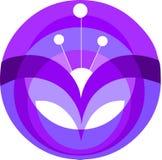 Elemento púrpura decorativo de la flor Imagenes de archivo