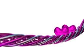 Elemento púrpura del diseño del amor con los corazones Imagen de archivo libre de regalías