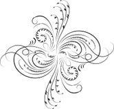 Elemento para el diseño, flor de la esquina, vector libre illustration