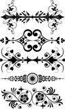 Elemento para el diseño, flor de la esquina, vector stock de ilustración