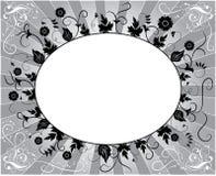 Elemento para el diseño, marco de la flor, vector stock de ilustración
